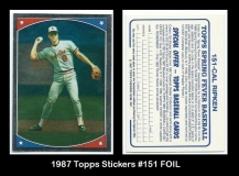 1987 Topps Stickers #151 FOIL