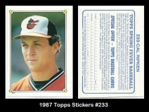 1987 Topps Stickers #233
