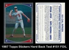 1987 Topps Stickers Hard Back Test #151 FOIL