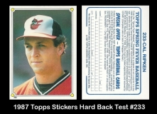 1987 Topps Stickers Hard Back Test #233