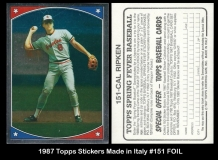 1987 Topps Stickers Made in Italy #151 FOIL