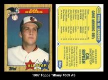 1987 Topps Tiffany #609 AS