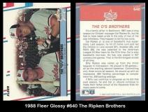 1988 Fleer Glossy #640 The Ripken Brothers