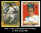 1988 O-Pee-Chee Stickers #160 FOIL w Ron Guidry #61