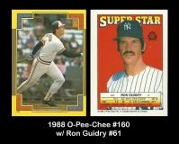 1988 O-Pee-Chee #160 w Ron Guidry #61