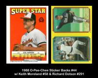 1988-O-pee-Chee-Sticker-Backs-44-w-Keith-Moreland-58-RIchard-Dotson-291