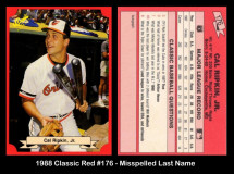 1988-Classic-Red-176-Misspelled-Last-Name