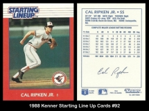 1988 Kenner Starting Line Up Cards #92