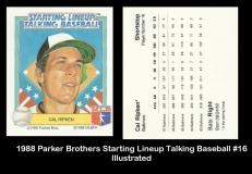 1988 Parker Brothers Starting Lineup Talking Baseball #16 Illustrated