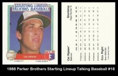 1988 Parker Brothers Starting Lineup Talking Baseball #16