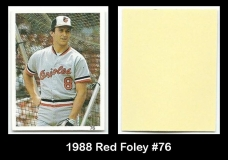 1988 Red Foley #76