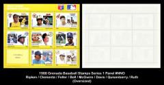 1988-Grenada-Baseball-Stamps-Series-1-Panel-NNO