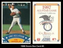 1988 Score Box Card #5