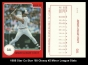1988 Star Co Star 88 Glossy #2 Minor League Stats