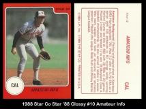 1988 Star Co Star 88 Glossy #10 Amateur Info