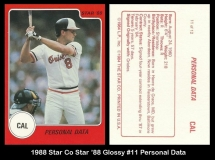 1988 Star Co Star 88 Glossy #11 Personal Data