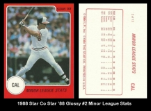 1988 Star Co Star 88 Glossy #2 Minor League Stats
