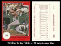 1988 Star Co Star 88 Glossy #3 Major League Stats