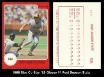 1988 Star Co Star 88 Glossy #4 Post Season Stats