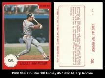 1988 Star Co Star 88 Glossy #5 1982 AL Top Rookie