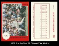 1988 Star Co Star 88 Glossy #7 4x All Star