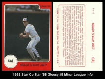1988 Star Co Star 88 Glossy #9 Minor League Info