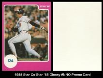 1988 Star Co Star 88 Glossy #NNO Promo Card