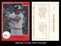 1988 Star Co Star 88 #1 Checklist