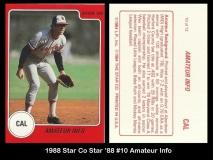 1988 Star Co Star 88 #10 Amateur Info