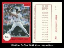 1988 Star Co Star 88 #2 Minor Legue Stats