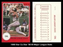 1988 Star Co Star 88 #3 Major League Stats