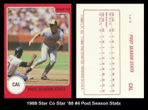 1988 Star Co Star 88 #4 Post Season Stats