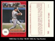 1988 Star Co Star 88 #5 AL Top Rookie