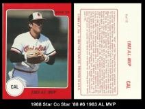 1988 Star Co Star 88 #6 1983 AL MVP