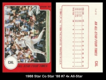 1988 Star Co Star 88 #7 4x All Star