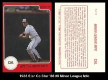 1988 Star Co Star 88 #9 Minor League Info