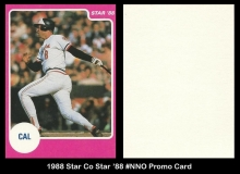 1988 Star Co Star 88 #NNO Promo Card