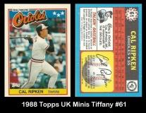 1988 Topps UK Minis Tiffany #61