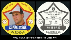 1989 MSA Super Stars Iced Tea Discs #16
