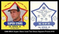 1989 MSA Super Stars Iced Tea Discs Square Promo #16