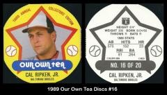 1989 Our Own Tea Discs #16