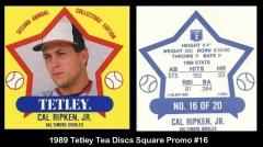 1989 Tetley Tea Discs Square Promo #16