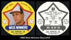 1989 Weis Winners Discs #16