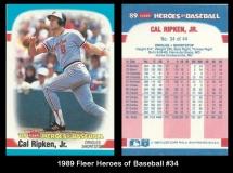 1989 Fleer Heroes of Baseball #34