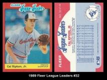 1989 Fleer League Leaders #32