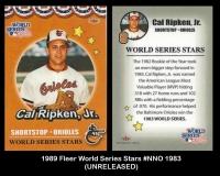 1989 Fleer World Series Stars #NNO 1983
