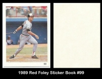 1989 Red Foley Sticker Book #99