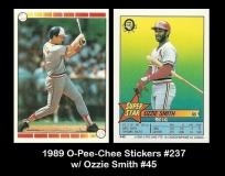 1989 O-Pee-Chee Stickers #237 w Ozzie Smith #45