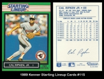 1989 Kenner Starting Lineup Cards #115