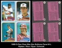 1989 O-Pee-Chee Wax Box Bottoms Panel #I-L
